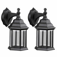 Twin Pack Outdoor Exterior Wall Lantern Light Fixture Sconce Porch Lamp Lighting