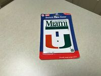NCAA Miami Hurricanes College Team Logo Light Switch Plate Cover Home Decor