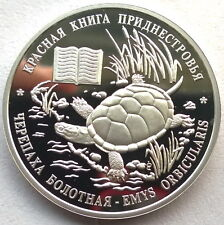 Transdniestria 2015 Turtle 10 Roubles Silver Coin,Proof