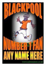 """N. 1 Blackpool Fan personalizzato-flessibile Frigo Calamita circa 5"""" x 4"""""""