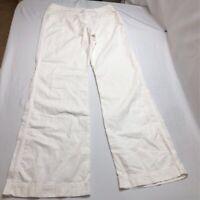 H&M Womens Boot Cut Pants Ivory Pockets Flat Front 6