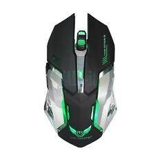 HXSJ X70W New Wireless Gaming Mouse with 6 Buttons and 7 Colors Breathing Lights