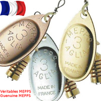 Details about  /Mepps Aglia TW #3 6 g Genuine French Spinner Copper Gold Silver