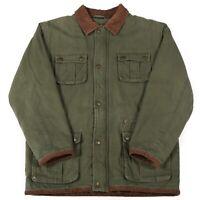 Vintage EDDIE BAUER Quilted Chore Jacket | Coat Zip Padded Work Wear