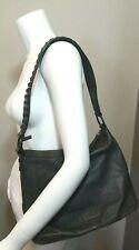 KENNETH COLE REACTION Gray LEATHER Purse Shoulder Bag Studded/ Spiked Strap