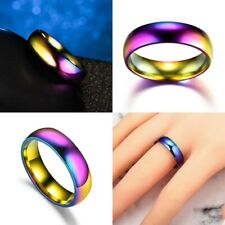 Top New Unisex Jewelry Slimming Ring Rainbow Ring Magnetic Therapy Titanium Ring