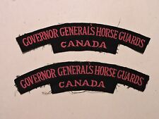PAIRE INSIGNE BADGE COMMONWEALTH GOVERNOR GENERALS HORSE GUARDS CANADA