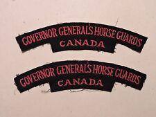PAIRE INSIGNE BADGE COMMONWEALTH GOVERNOR GENERALS HORSE GUARDS CANADA