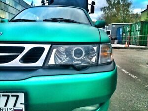 SAAB 9-3 Polycarbonate Headlight Covers for retrofit, pair.