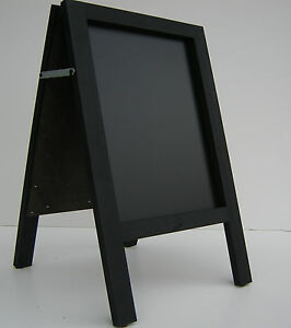 CHALKBOARD-PAVEMENT BOARD-SANDWICH-DISPLAY-BLACKBOARD - 80cm x 40cm  BLACK 5KGS