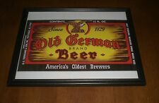 OLD GERMAN BRAND BEER COLOR FRAMED PRINT - D. G. YUENGLING & SON  POTTSVILLE, PA