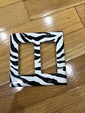 Zebra Print Rocker Light Switch Cover Double Plate Strip Animal Print