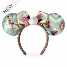 Disney Minnie Mouse Attraction Oreilles Serre-tête Ears 7/12 Carrousel Neuf New