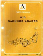 Allis Chalmers 816 Loader Backhoe Tractor Parts Manual