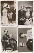 Postcard Collection of 4 x cards King of Spain Alfonso 35