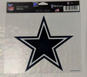 """Dallas Cowboys 5"""" x 6"""" Star Logo Multi Use Decal Cling - Truck Car Window"""