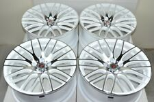4 New Ddr Zuki 18x8 5x120 38mm Whitepolished 18 Wheels Rims Fits Land Rover Discovery