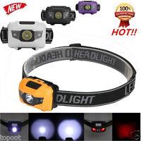 300LM R3 2LED Mini Headlight Headlamp Flashlight 4 Mode Super Bright Torch Light