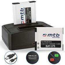2x Bateria + Cargador doble DMW-BCM13E para Panasonic Lumix DMC-TZ56, TZ61