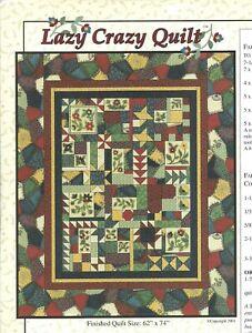 Lot of 6 Thimbleberries Lazy Crazy Quilt Block Patterns #1, 4, 5, 6, 8, & 9