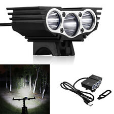 3x CREE XM-L T6 LED Bicycle Bike HeadLight Head Light Lamp Torch Flashlight US