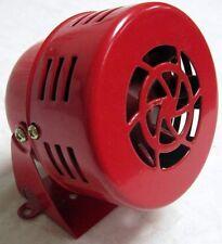 RED 1950's Style 12v Mini Motor Driven Air Raid Siren Horn Car Truck Street Rod