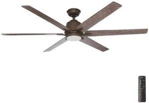 "Home Decorators Collection Kensgrove 64"" LED Espresso Bronze Ceiling Fan"