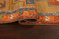 "Antique Vegetable Dye Heriz Serapi Runner Rug Hand-knotted Wool 12' 2"" x 3' 6"""