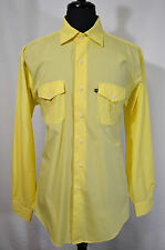 BROOKS BROTHERS Men's SLIM FIT Long Sleeve Casual Shirt Size L Large Yellow NICE