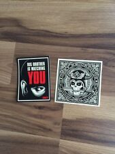 Shepard Fairey Signed Sticker Set Big Brother Obey Records Andre Giant Hope Art