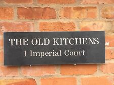 FANTASTIC QUALITY SLATE HOUSE SIGNS 600 X 200MM ANY COLOUR LETTERS
