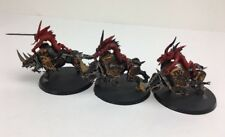 3 x Warhammer Games Workshop Chaos Daemons of Khorne Bloodcrushers Painted