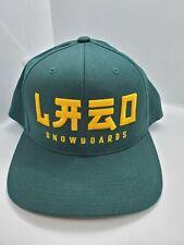 Lazo Snowboards Green Snapback Yupoong Hat Cap