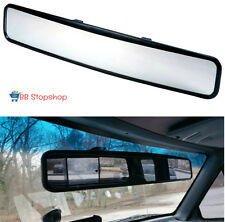 No Blind Spot Long Rear View Mirror Clip On Wide Angle Glass Panoramic Universal