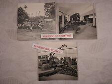 3 x altes Foto Bombay Indien 1960 Fabrik Bau Kabel Kabelwerk Kran Industrie