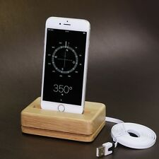 Original EICHE massiv Docking Station Ladegerät +2m USB Kabel für iPhone 6s Plus