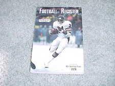 1978 NFL Football Register Media Guide Chicago Bears Walter Payton Cover