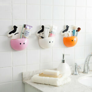Cows Toothbrush Holder Free Punching Tooth Holder Home Decor For Bathroom Tools