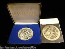 """1974 Frank Eliscue .999 fine Silver """"Inspiration"""" America's First 2-Part Medal"""