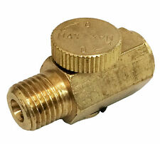 "New 1/4"" NPT Inline Regulator Solid Brass Compressed Air Pressure Valve Tool"
