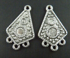 20pcs 3-to-1 Earring Tibetan Silver Connectors 30x17.5x2mm 735