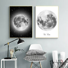 Canvas Painting Planet Black and White Art Picture Living Room Bedroom Paintings