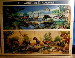 THE WORLD OF DINOSAURS 15 EXTINCT NATURE #3136 XF 32C STAMP SHEET NEW IN WRAPPER