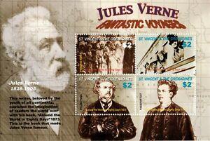 St. Vincent 2005 SC# 3471 Jules Verne, Around World in 80 Days - Sheet of 4 MNH