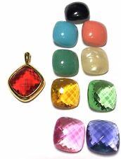 Vtg Joan Rivers Interchangeable Pendant Cabochons Set Large Changeable Gems Lot