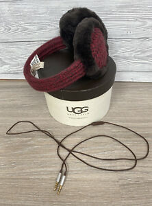UGG Classic Wired Earmuffs Marled Cardy Sangria With Box And Lead