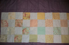 "48~~6"" Squares Quilt Kit ~24 Pastel Shabby Chic & 24~White Tonal  Squares"