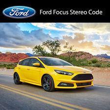 FORD Focus Stereo codici PIN AUTO Codice Di Sblocco Radio servizio veloce 6000cd, Serie V