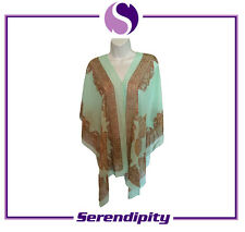 Green Long and Soft Pure Silk Scarve/Shawl