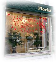 Valentines Day Retail Shop Window Display Vinyl Stickers - 3 line ribbons V2